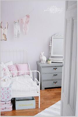 Colores para las paredes de habitaciones infantiles: Beige y Gris
