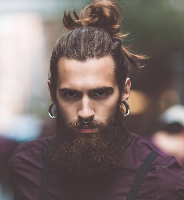 model rambut pria kumis janggut sambung