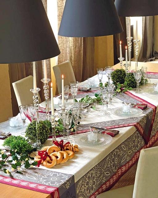 mesa simples natal