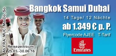 Bangkok Samui Dubai