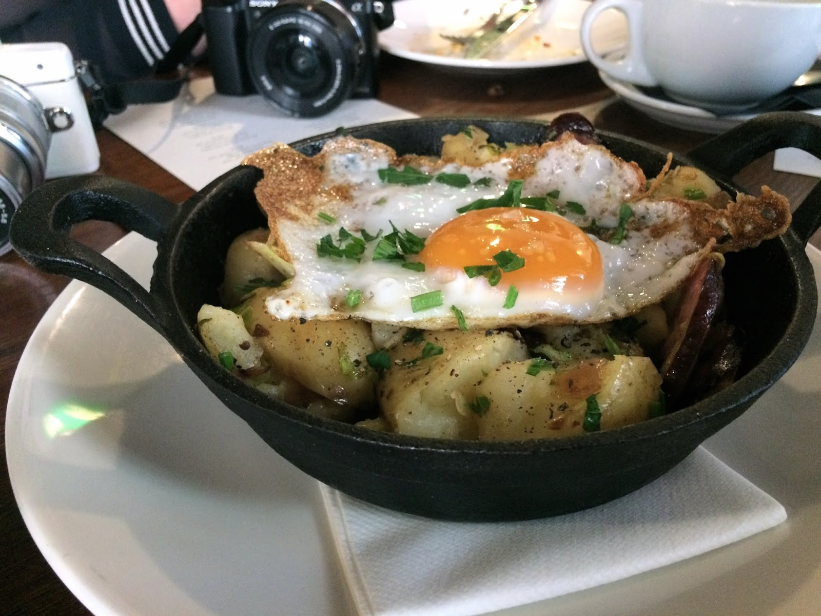 Brunch dish at Ox Club, Leeds