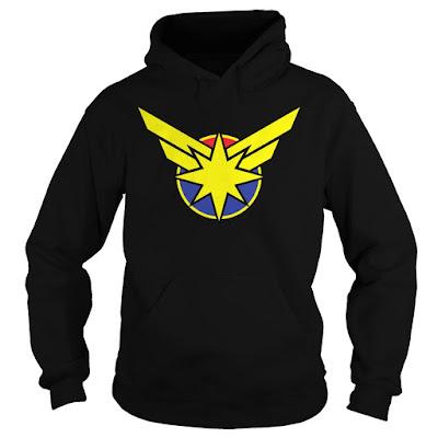Captain Marvel T Shirt Hoodie Sweatshirt