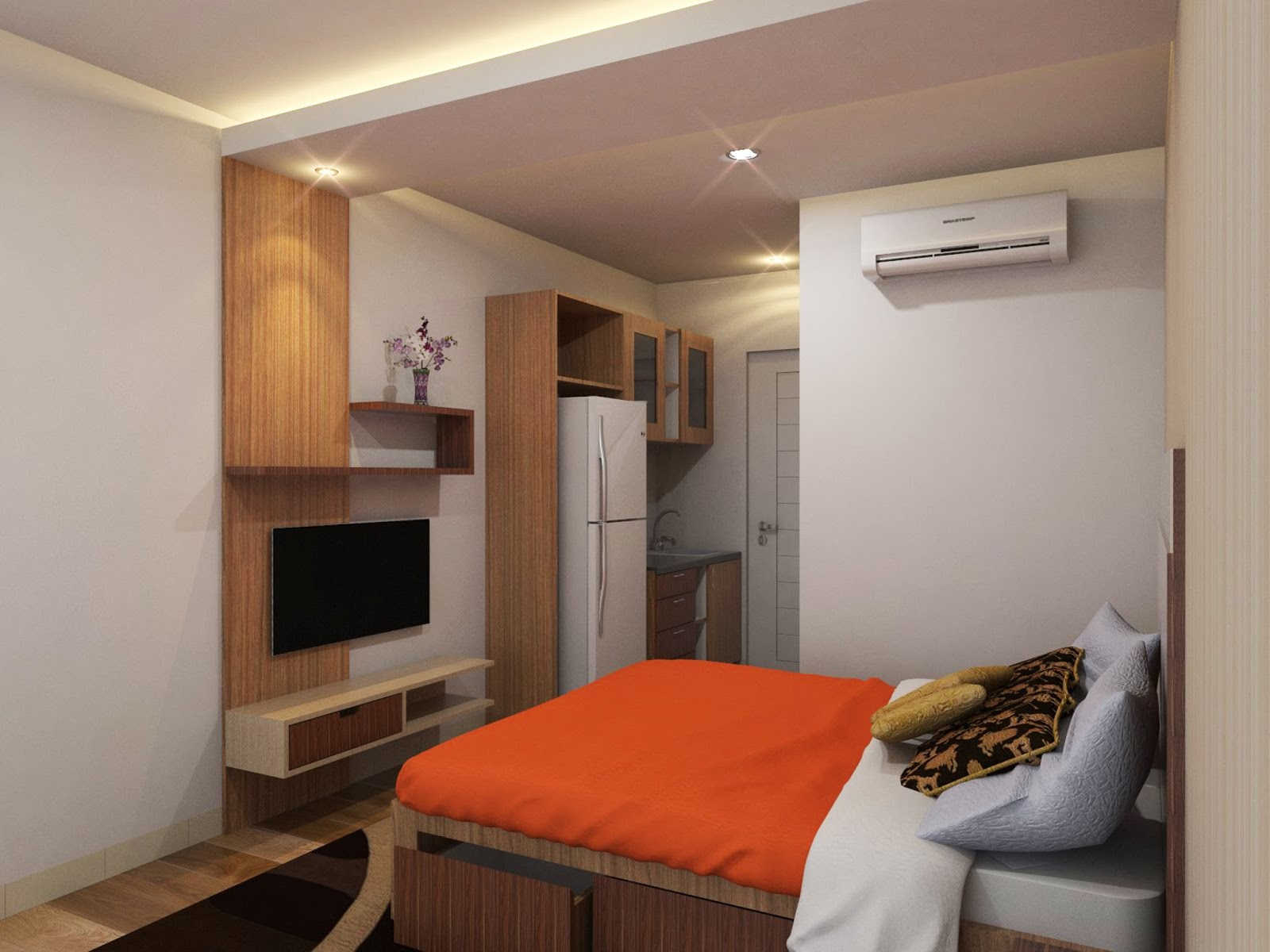 Desain Kamar Apartemen Tipe Studio