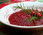 Fresh Jellied Cranberry Sauce with Apple