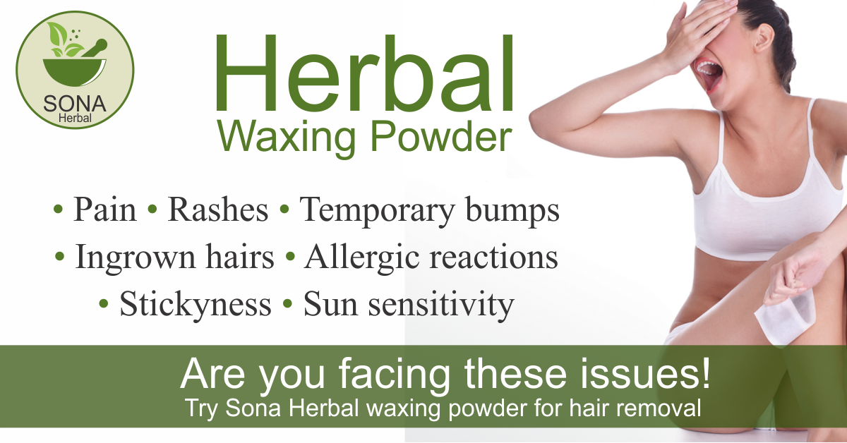 Hair Removal Sona Herbal Waxing Powder Instant Waxing Solution Sona Lingeries