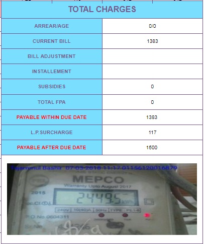 How to Check your WAPDA Electricity Bill for current month online
