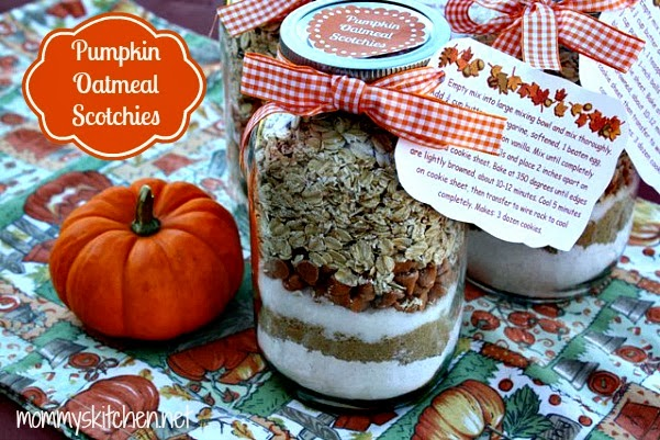 Pumpkin Oatmeal Cookie Mix in a Jar