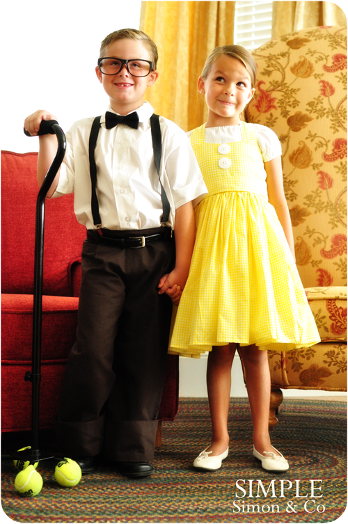 Project Run and Play   Disney   s UP  CostumesYoung Carl And Ellie Costumes