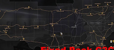American Truck Simulator Coast to Coast Corrected Fix for ATS Map Download MODs