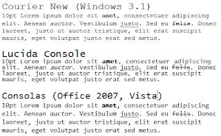 Jenis Font Monospace