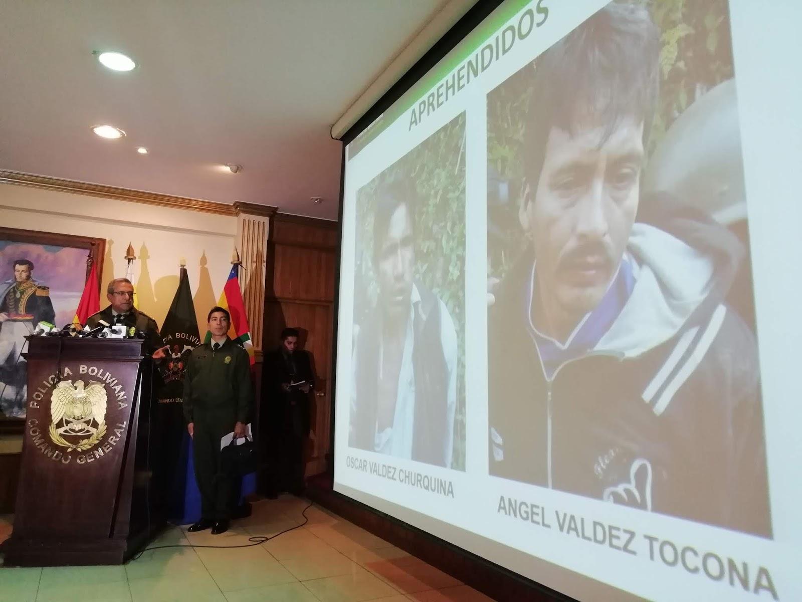 Comando policial presentó a dos sujetos encontrados con armas de fuego / ABI