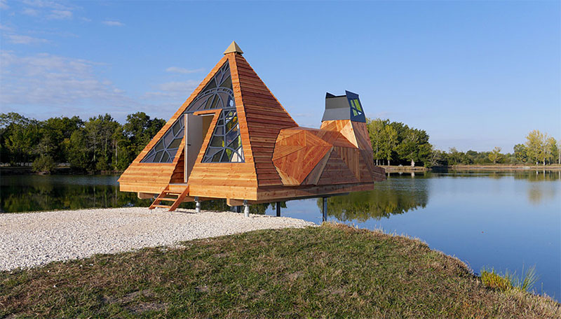 The Prism A Pyramid Shaped Cabin By Lou Andr 233 A Lassalle