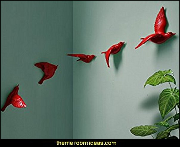 3d wall murals Stick Wall Decals Removable Wall Decals Stickers Art Flowers Bird
