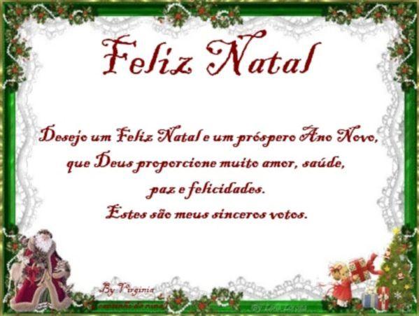 Mensagem de Natal pequena Frases de Natal e Ano Novo