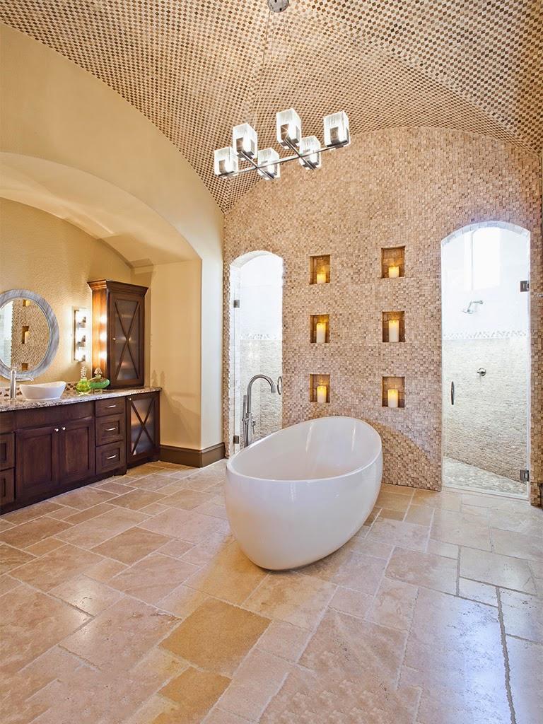 tavan baie cu mozaic si ogiva, elemente decorative