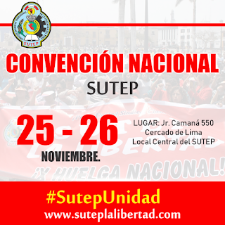 Convención Nacional del SUTEP