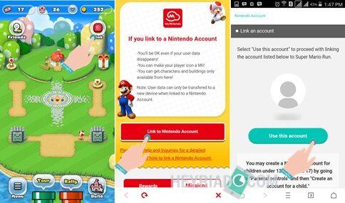 Cara Mengganti Akun Nintendo di Super Mario Run