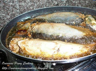 Rellenong Bangus - Cooking Procedure