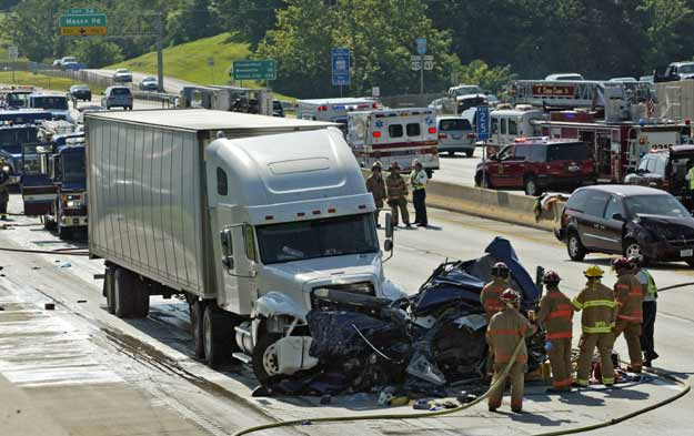 Maryland Personal Injury Lawyer: Tractor-trailer crash closes