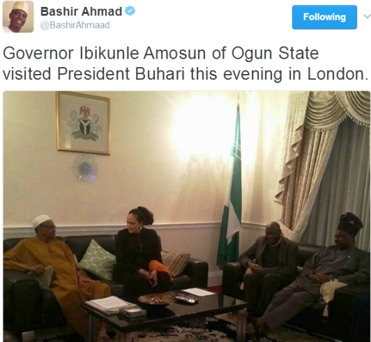 Presidential Aide Shares Photo Of PMB In The UK Yesterday And Some People Disagree