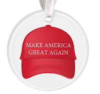 Is the official red ball cap ornament, trimmed in gold, out of your price range? Consider this acrylic ornament as an election year memento.