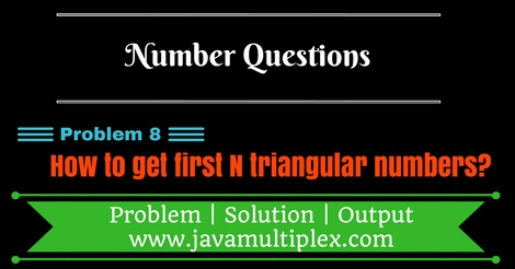 Java program that generates first n triangular numbers.