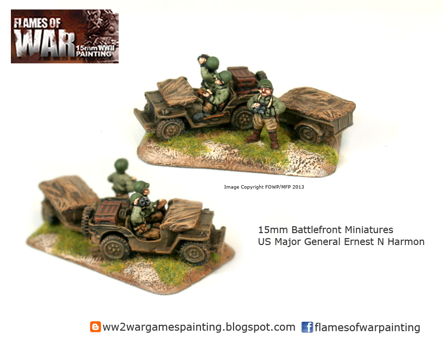 15mm Battlefront Miniatures US Major General Ernest N Harmon