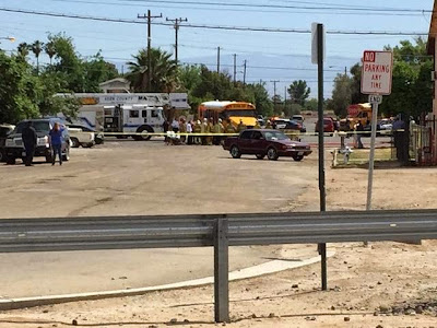 bakersfield school bus car accident janet foster truxtun avenue gage street