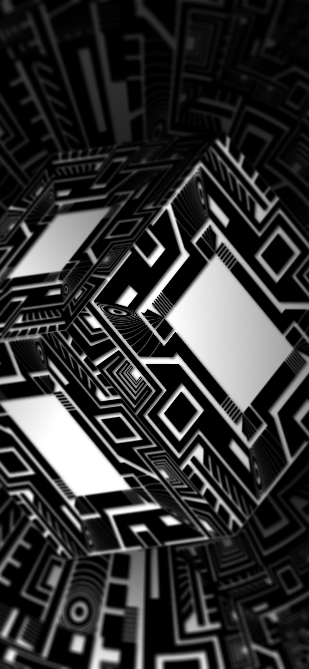 Black Abstract Cube 3d 8k Wallpaper 44