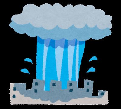 ゲリラ豪雨のイラスト(自然災害)