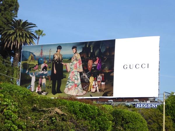 Gucci Ignasi Monreal painting billboard