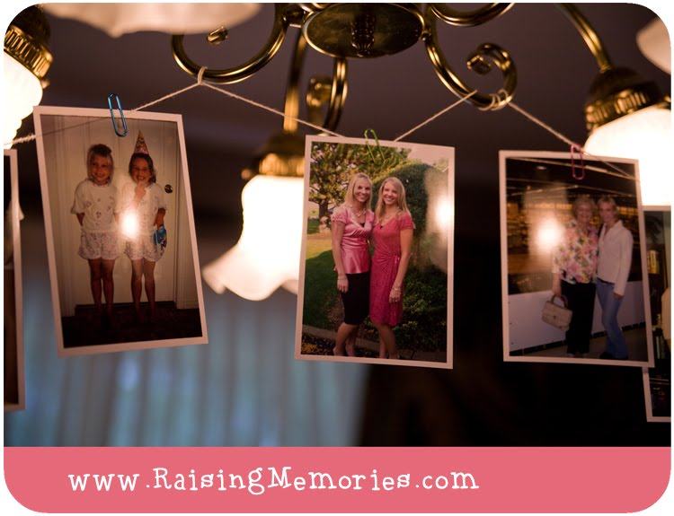 Bridal Shower Photo Decor