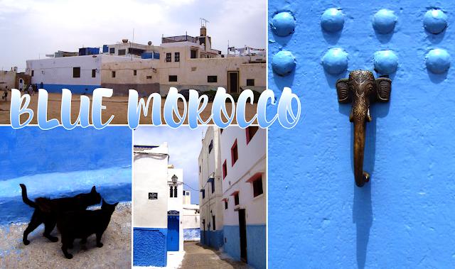 4 niebieskie marokańskie miasta
