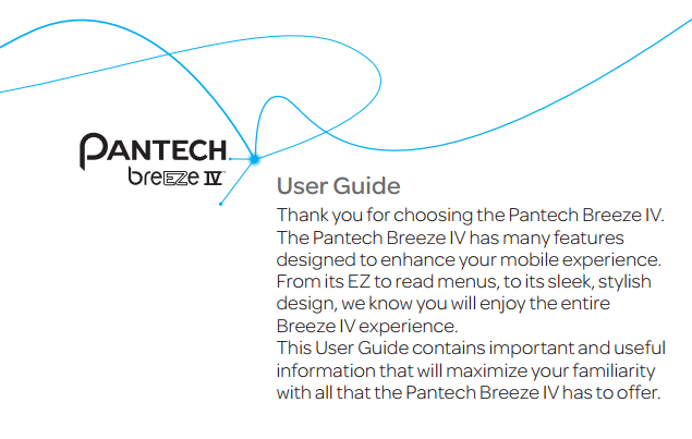 Pantech Breeze IV Manual