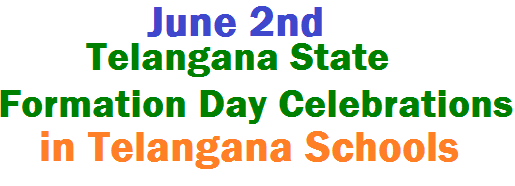 june 2nd telangana state formation day celebrations,ts schools,cultural activities,instructions,guidelines,quiz competition,sports,essay writing competitions