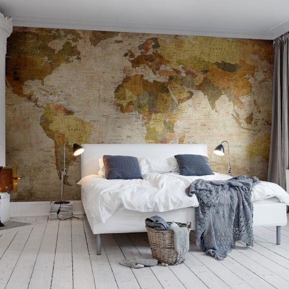 maailmankartalla tapetti kartat taustakuva maailmankartalla vanha vuosikerta valokuvatapetti makuuhuone
