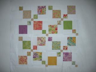 Ontwerpmuur met quiltblokken