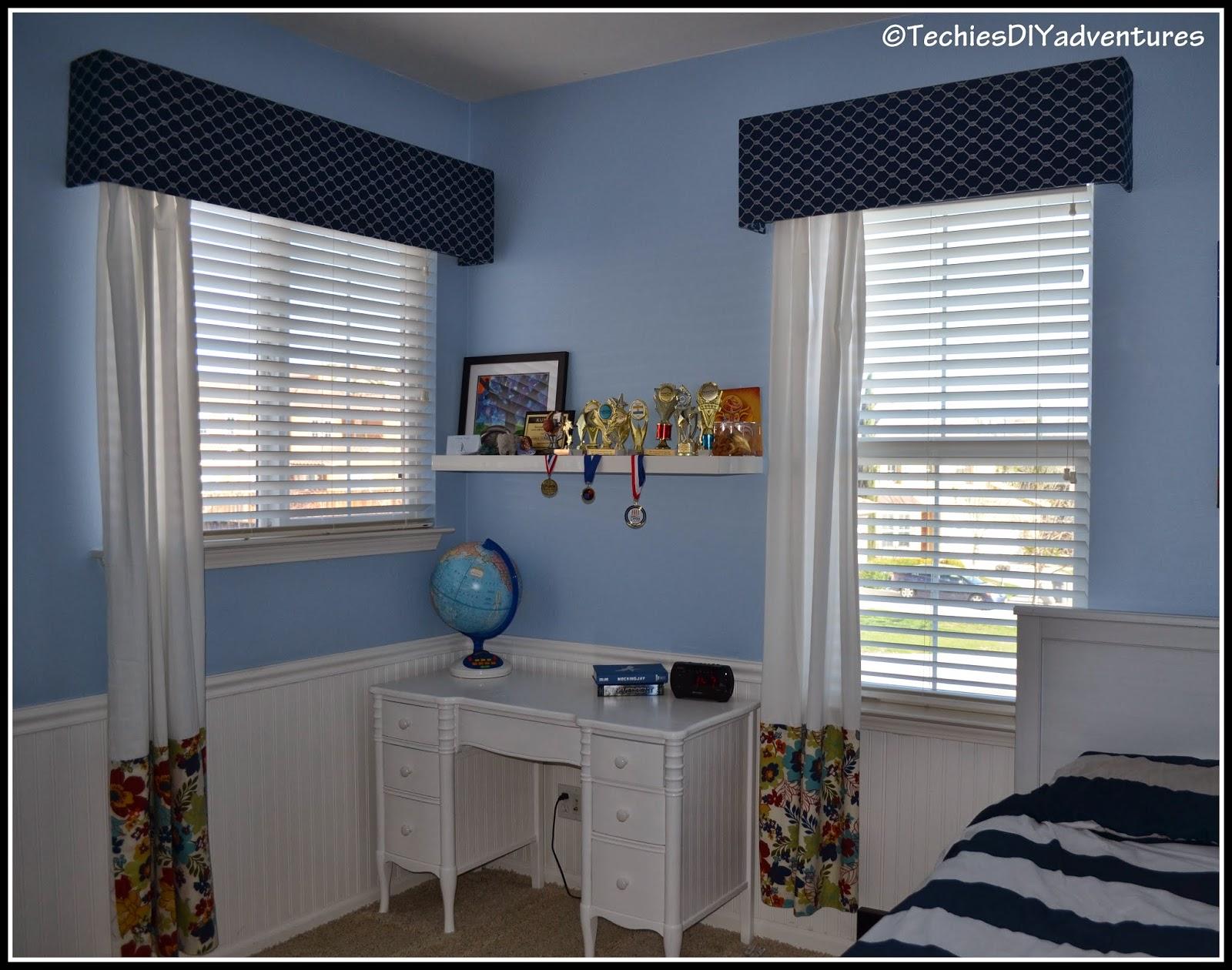 Upholstered Window Cornice