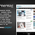Cornermag, free blogger template for magazine style