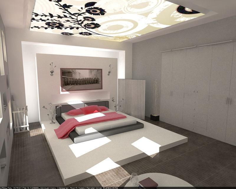 44 Desain Plafon Kamar Tidur Modern dan Cantik
