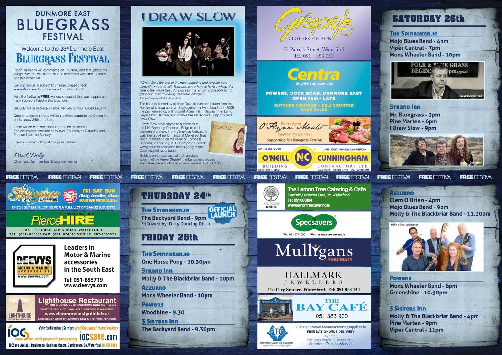 the bluegrass ireland blog full colour brochure for dunmore east