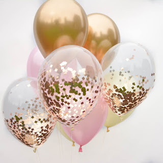 Pink, Rose Gold Confetti, Rose Gold Balloon, Big Confetti Balloon, Party confetti balloons