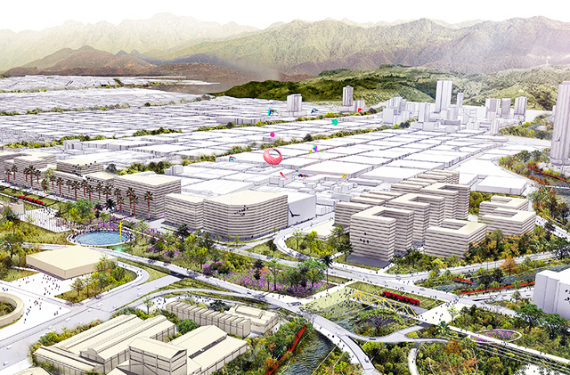 Figure 1 : An artistic prediciton of how Cali's green corridor will look once completed.