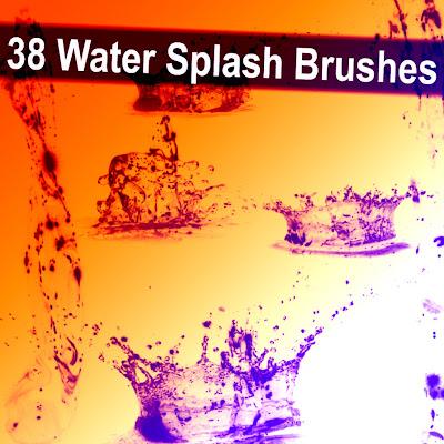 38 pinceles de agua para Photoshop