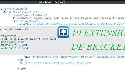 Extensiones de brackets para facilitar el desarrollo web