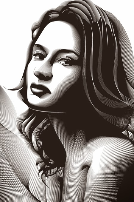 Retrato en Semitono con Adobe Photoshop e Illustrator Final by Saltaalavista Blog