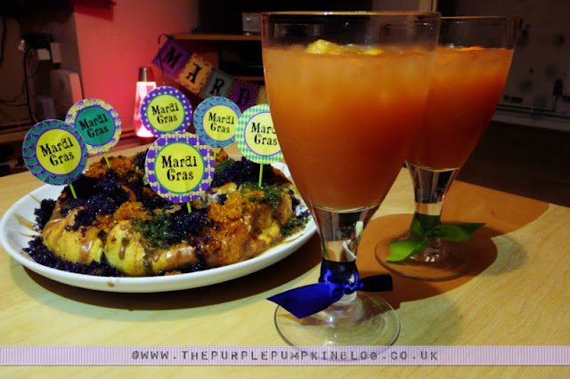 Mardi Gras Rum Punch | The Purple Pumpkin Blog