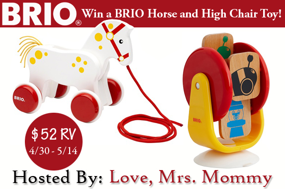 Win a BRIO Horse and High Chair Toy!