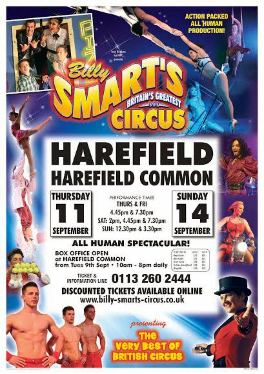 Billy Smarts Harefield September 2014 official poster