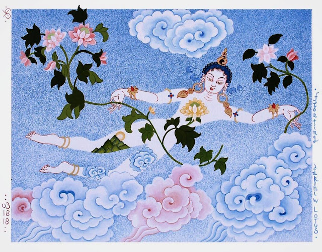 Floating Dakini by Eva Schicker 2018